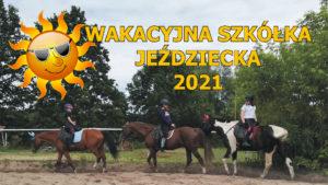 Wakacyjna szkółka Jeździecka, edycja 2021 - element graficzny dekoracyjny